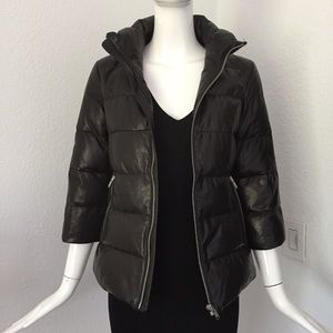 JUNE Leather Down Coat